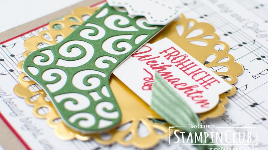 Stampin' Up!, StampinClub, Von den Socken, Thinlits Weihnachtsstrümpfe