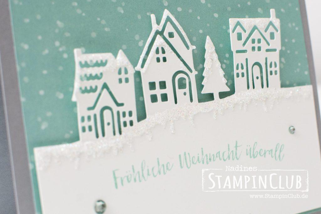 Stampin' Up!, StampinClub, Weihnachten, Weihnachten daheim, Edgelits Formen Weihnachtsstädtchen