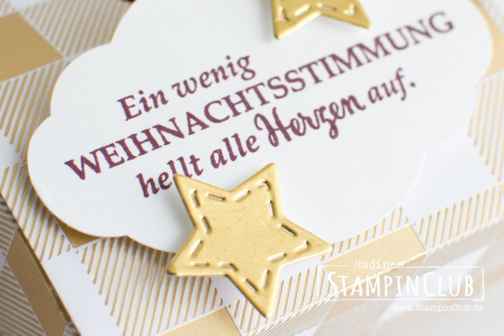 Stampin' Up!, StampinClub, Goodies, Weihnachtsstimmung, Weihnachtsstern, Star of light, Treatbag, Tüte, Box, Verpackung
