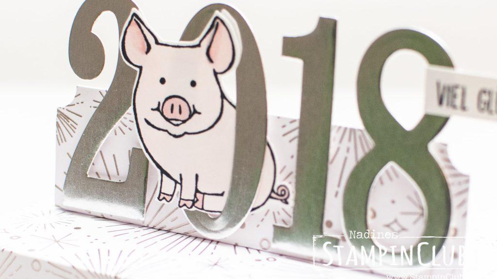 Stampin' Up!, StampinClub, Silvester, 2018, This little Piggy, Glücksschweinchen