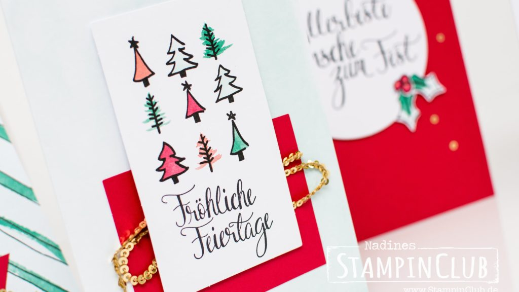 Stampin' Up!, StampinClub, Projektset Malerische Weihnachten, Watercolor Christmas Project Kit, Malerische Weihnachten, Watercolor Christmas