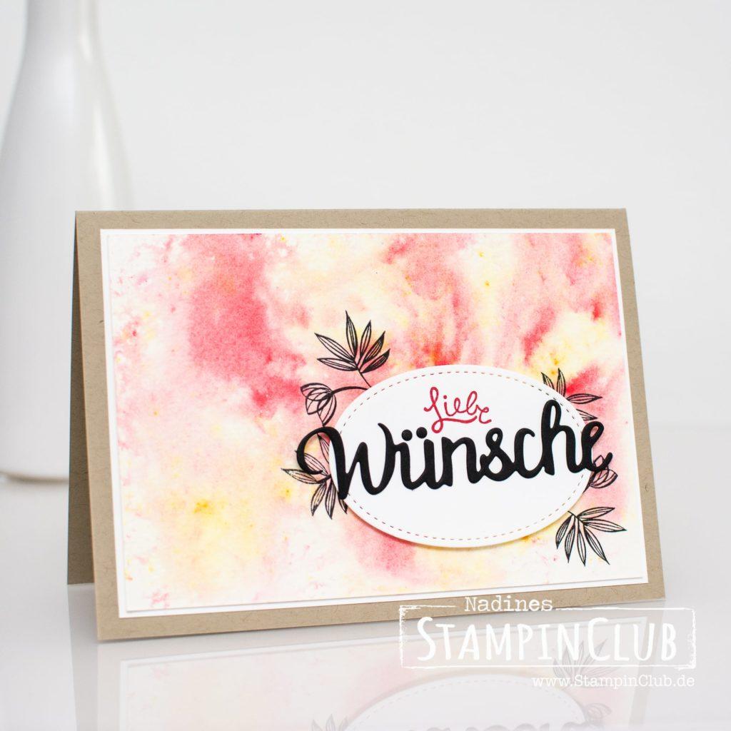 Thinlits Formen Wunderbar, Stampin' Up!, StampinClub, Brushos, Brusho Crystal Color, Wunderbare Wünsche, Lovely Wishes, Einfach Wunderbar, Amazing You, Thinlits Formen Wunderbar, Celebrate You Thinlits