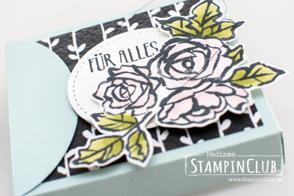 Stampin' Up!, StampinClub, Blütentraum, Petal Palette, DP Blütenfantasie, Thinlits Formen Blüten Blätter & Co., Petals & More Thinlits Dies, Framelits Formen Schachtel voller Liebe, Lots to Love Box Framelits