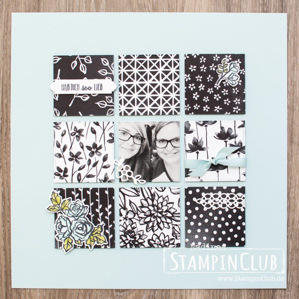 Blütenfantasie, Stampin' Up!, StampinClub, Layout, Scrapbooking, DP Blütenfantasie, Petal Passion DSP, Blütentraum, Petal Palette, Sampler