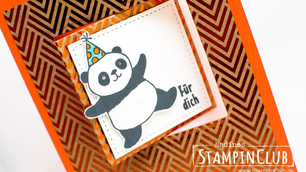 Stampin' Up, StampinClub, Party-Pandas, Sale-A-Bration, Flip-Flop-Karte