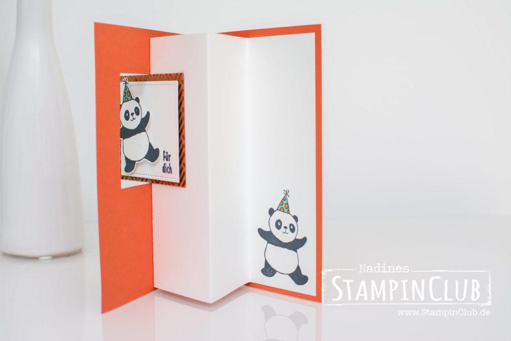 Stampin' Up, StampinClub, Party-Pandas, Sale-A-Bration, Flip-Flop-Karte
