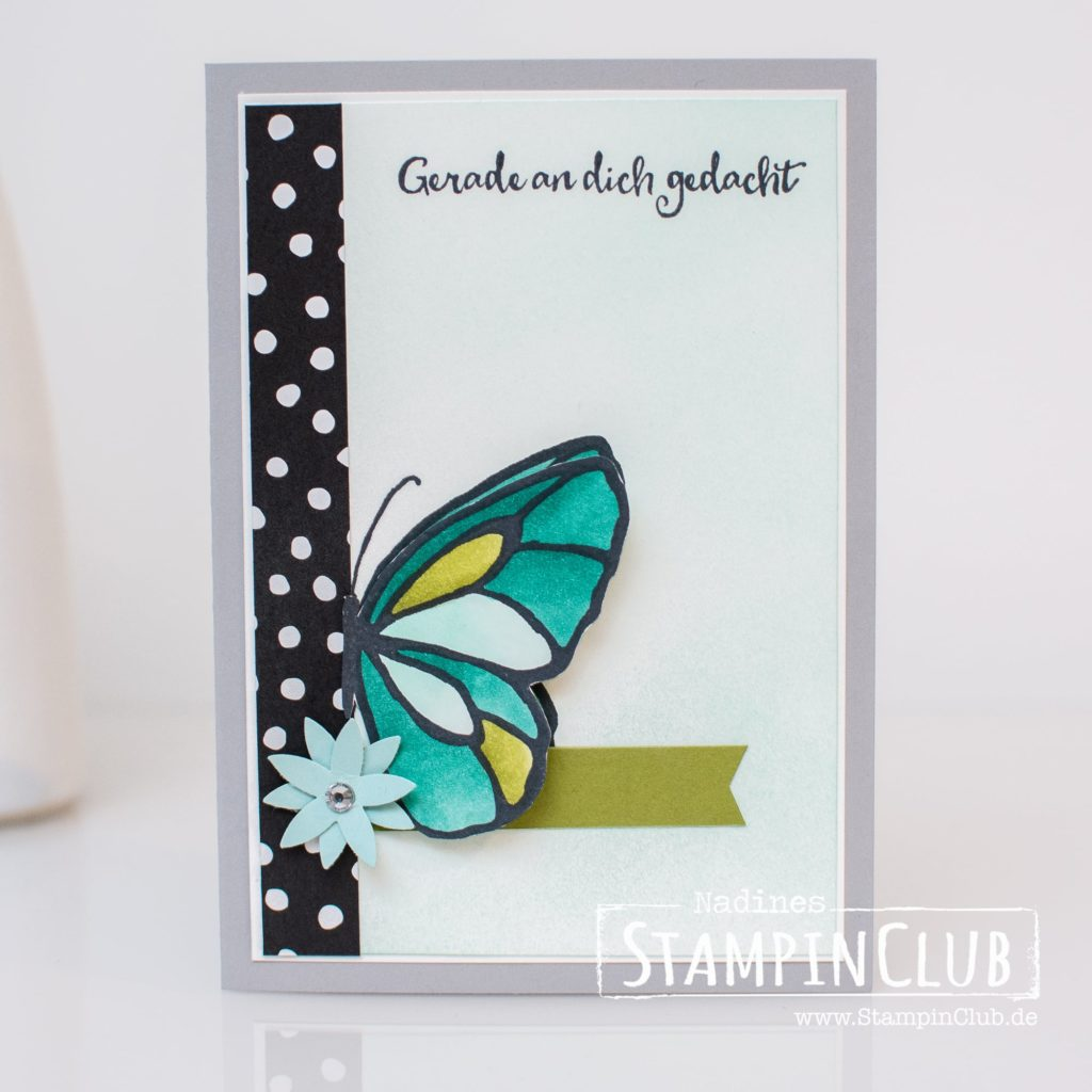 Butterfly, Stampin 'Up !, StampinClub, Stampin' Blends, Wonderful Day, Beautiful Day