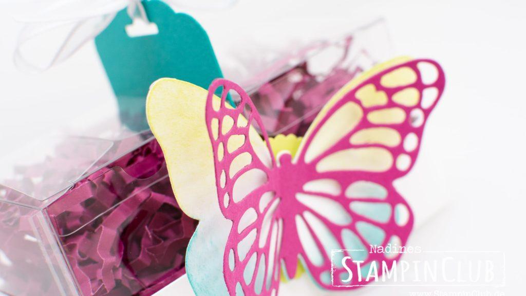 Stampin' Up!, Mini-Geschenkschachteln, Verpackung, Schmetterling, Stanze Gewellter Anhänger
