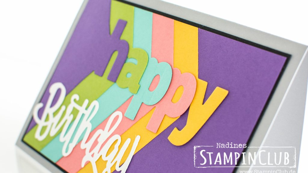 Stampin' Up!, StampinClub, Lagenweise Buchstaben, Layering Alphabet, Happy Birthday