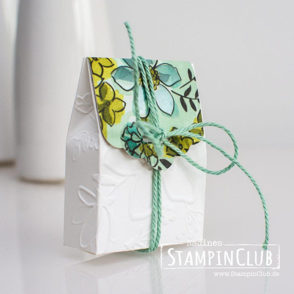 Wunderblume, Stampin' Up!, StampinClub, Prägefolder Wunderblume, Geteilte Leidenschaft, Big Shot, Goodie Verpackung