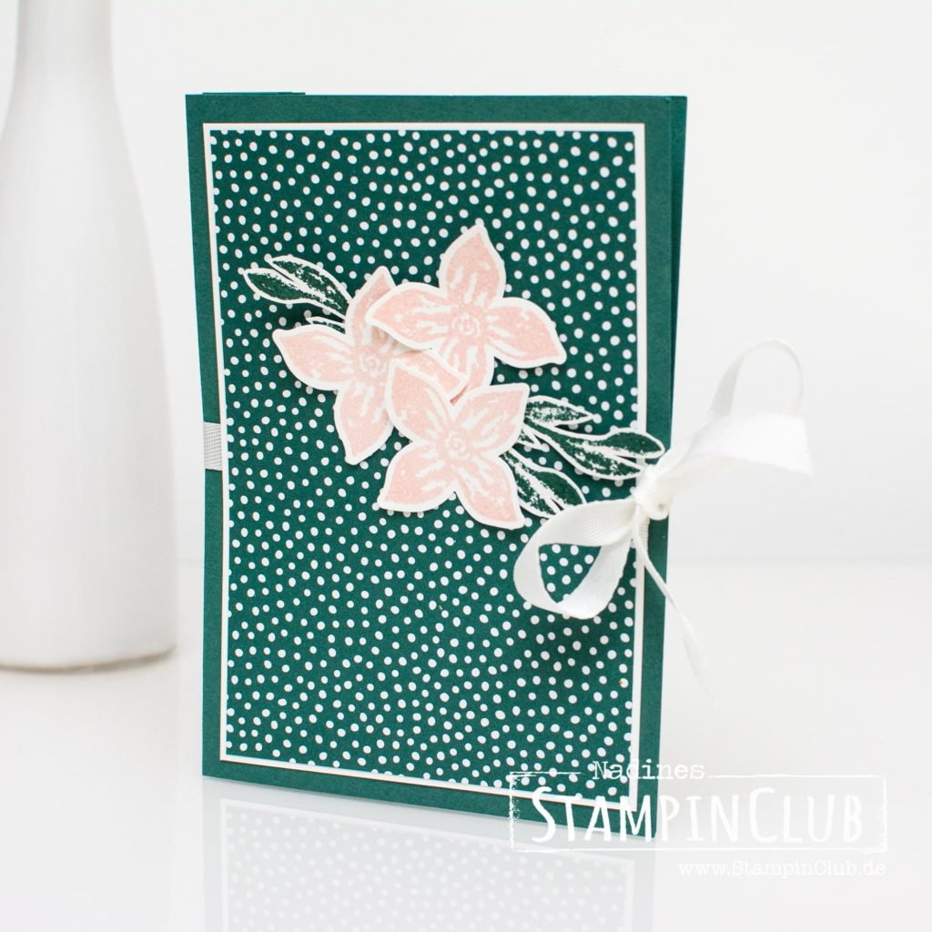Stampin' Up!, StampinClub, Akkordeon-Karte, Ziehharmonika-Karte, Lined Alphabet, Pop of Petals