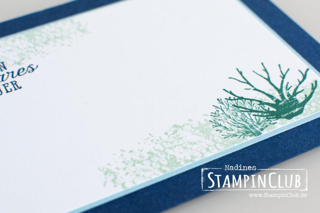 Stampin' Up!, StampinClub, Traum vom Meer, Glück und Meer, Framelits Unter dem Meer, Bokeh Technik