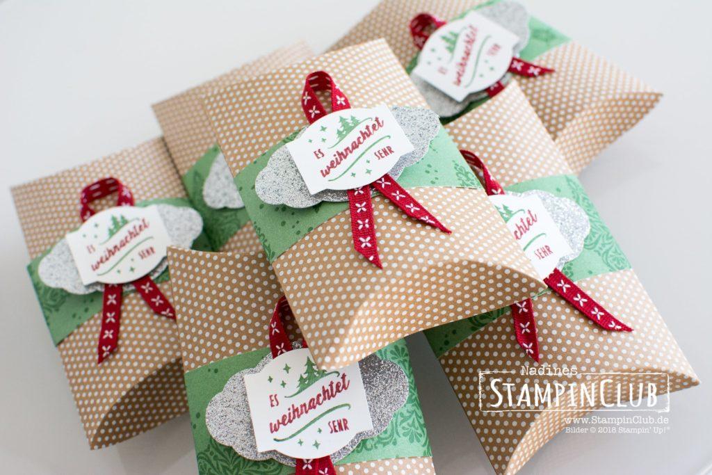 Weihnachtstraditionen, Stampin' Up!, StampinClub, Stanz-Box Weihnachtstraditionen, Christmas Traditions Punch Box, DP Elegante Weihnachten, Dashing Along DSP