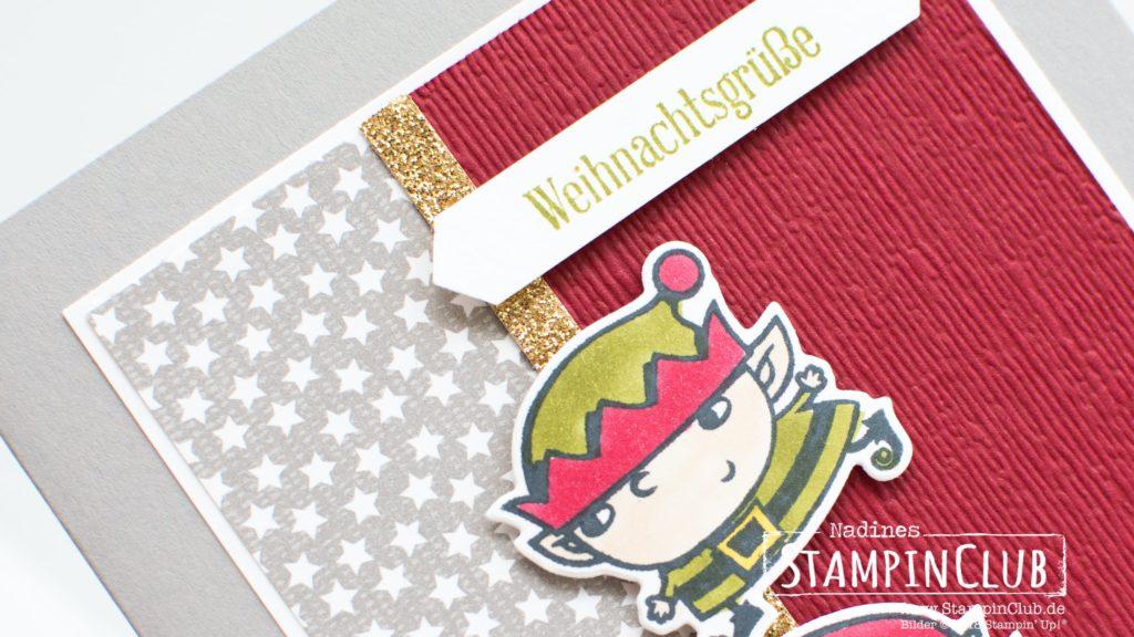 Stampin' Up!, StampinClub, Weihnachtswerkstatt Signs of Santa, Framelits Weg zum Weihnachtsmann. Santas Signpost Framelits, Klitzekleine Grüße