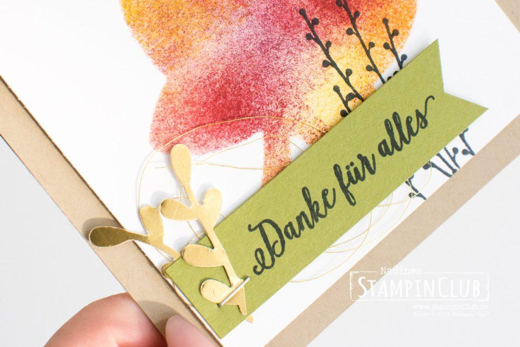 Stampin' Up!, StampinClub, Herbstreigen, Falling for Leaves, Thinlits Formen Blätterzauber, Detailed Leaves Thinlits Dies, Stanze Zierzweig, Sprig Punch