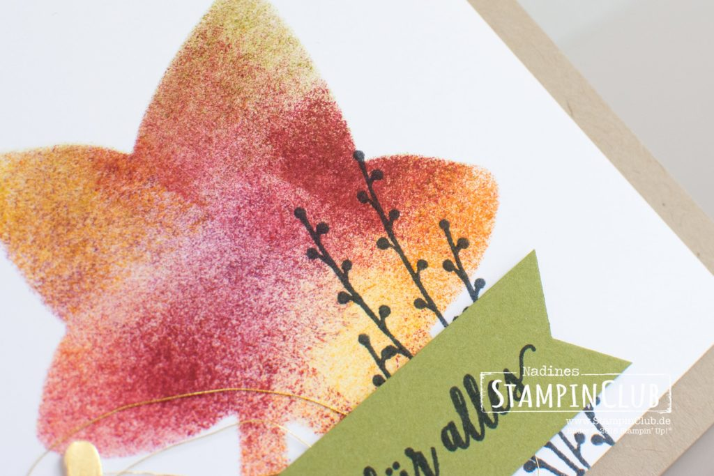 Stampin' Up!, StampinClub, Herbstreigen, Falling for Leaves, Thinlits Formen Blätterzauber, Detailed Leaves Thinlits Dies, Stanze Zierzweig, Sprig Punch