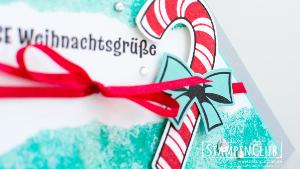 Stampin' Up!, StampinClub, Faux Torn Edge Technik, Zuckersüße Weihachten, Candy Cane Season