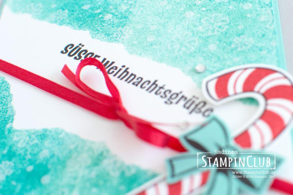 Stampin' Up!, StampinClub, Faux Torn Edge Technik, Zuckersüße Weihachten, Candy Cane Season