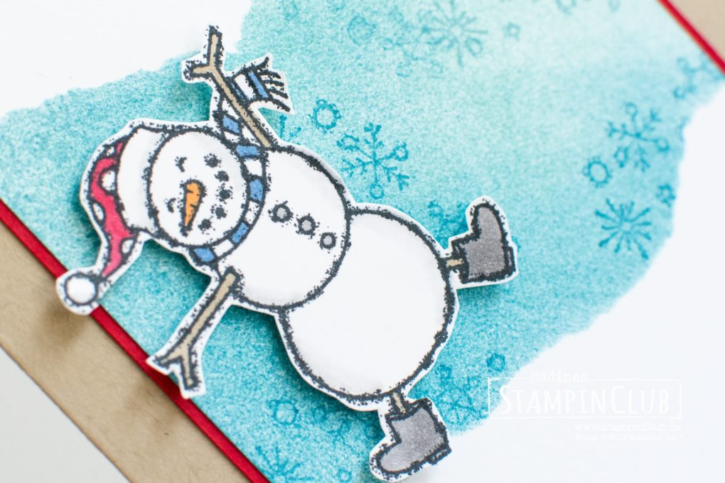 Stampin' Up!, StampinClub, Faux Torn Edge Technique, Spirited Snowman