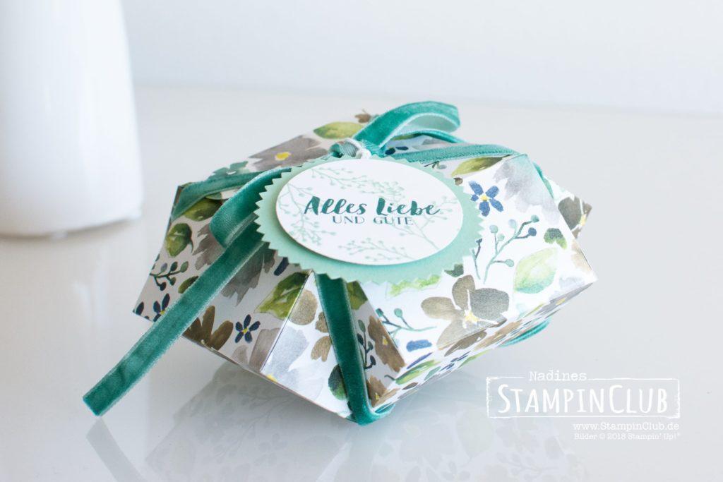 Stampin' Up!, StampinClub, Besonderes Designerpapier Winterblüten, Eisblüten, Verpackung, Box