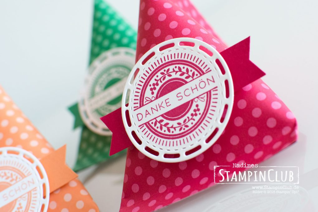 Stampin' Up!, StampinClub, Sour Cream Container, Bestickte Grüße