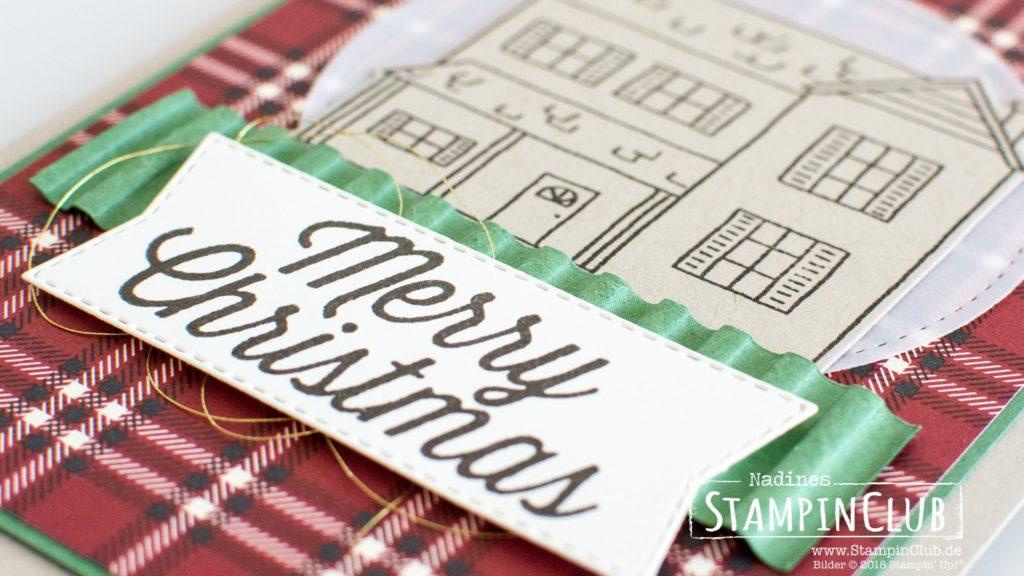 Stampin' Up!, StampinClub, Farmhouse Christmas, Farmhaus Framelits, Hüttenromantik
