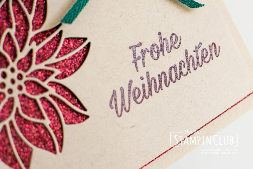 Stampin' Up!, StampinClub, Wunderbarer Weihnachtsstern, Peaceful Poinsettia, Thinlits Formen Weihnachtssterne, Detailed Poinsettia Thinlits Dies