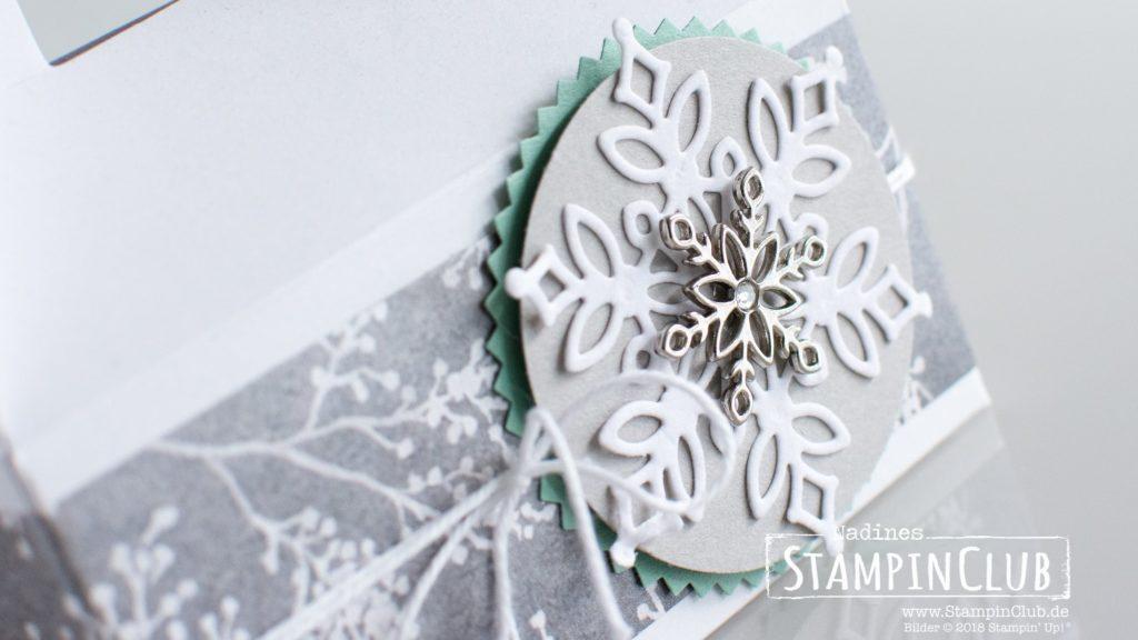 Stampin' Up!, StampinClub, Thinlits Formen Schneegestöber, Snowfall Thinlits Dies, Winterblüten DSP