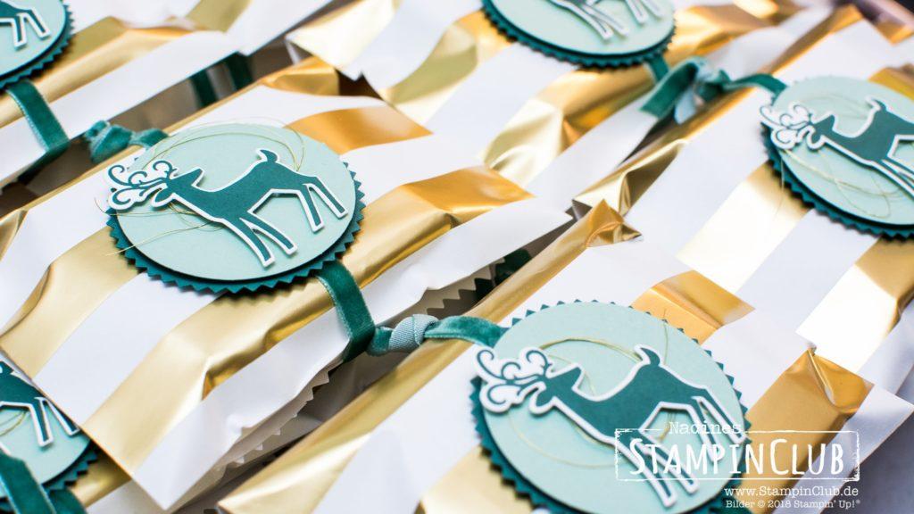 Stampin' Up!, Gestreifte Geschenktüten, Thinlits Weihnachtswild