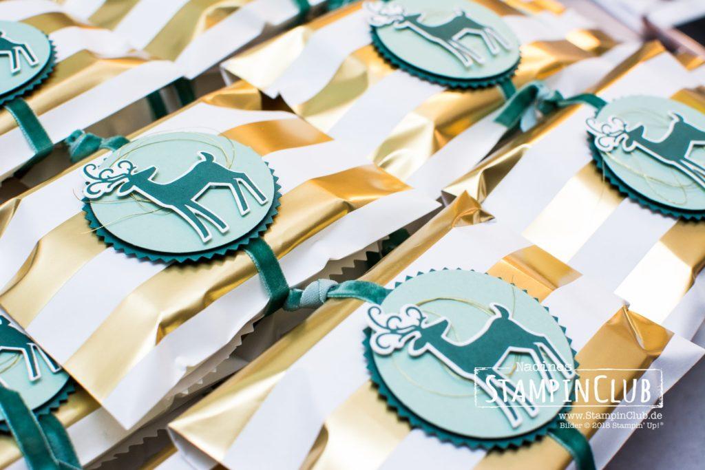 Gestreifte Geschenktüten, Stampin' Up!, Gestreifte Geschenktüten, Thinlits Weihnachtswild