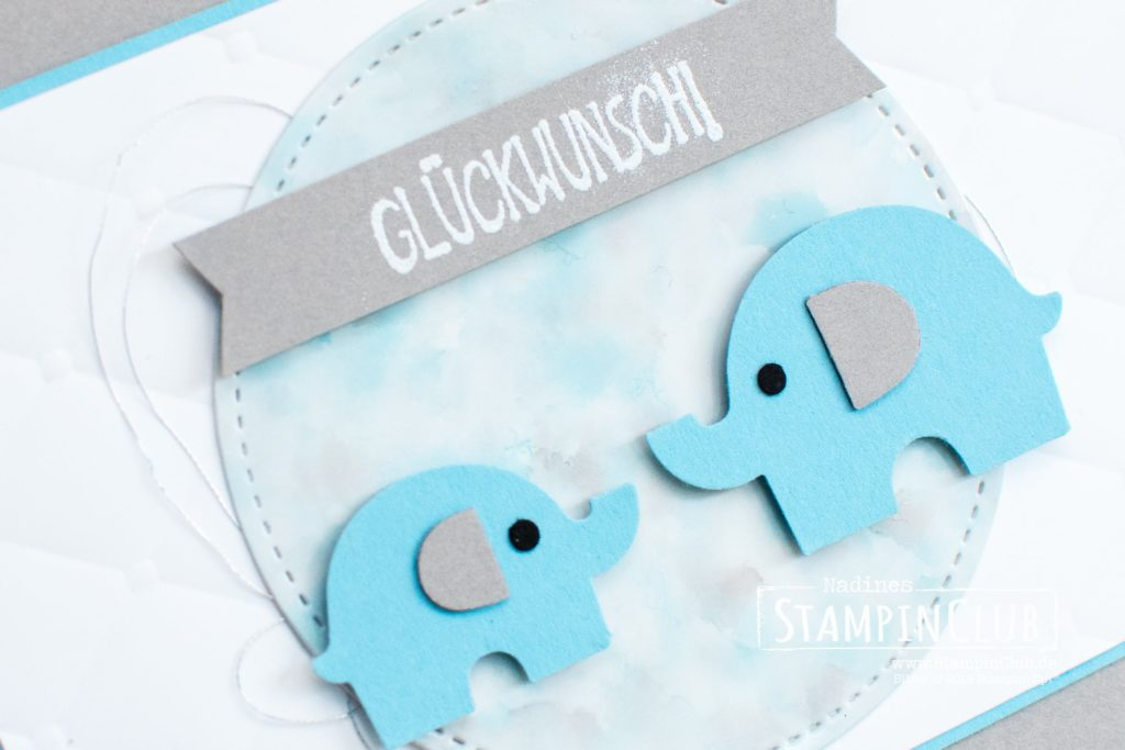 Stampin' Up!, StampinClub, Polished Stone, Elefantastisch, Little Elephant