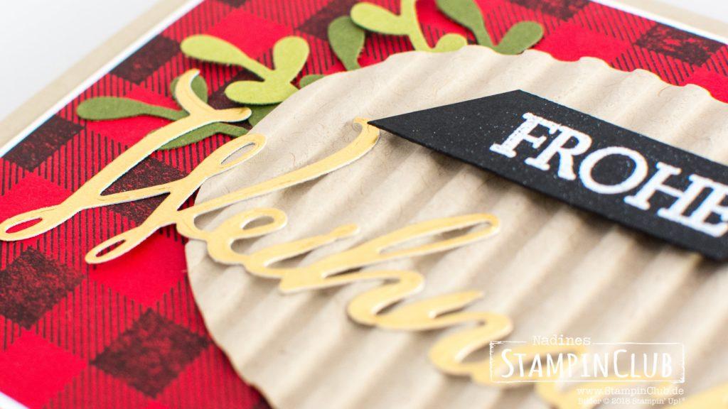 Stampin' Up!, StampinClub, Buffalo Check, Weihnachtliche Vielfalt, Merry Christmas to All, Thinlits Formen Frohe Feiertage, Merry Christmas Thinlits Dies