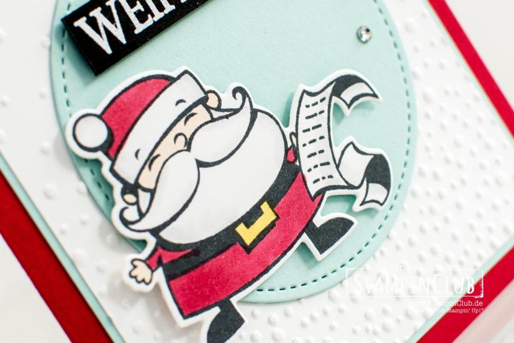 Stampin' Up!, StampinClub, Weihnachtswerkstatt, Framelits Weg zum Weihnachtsmann, Leise Rieselt, Weihnachtliche Vielfalt, Merry Christmas to All