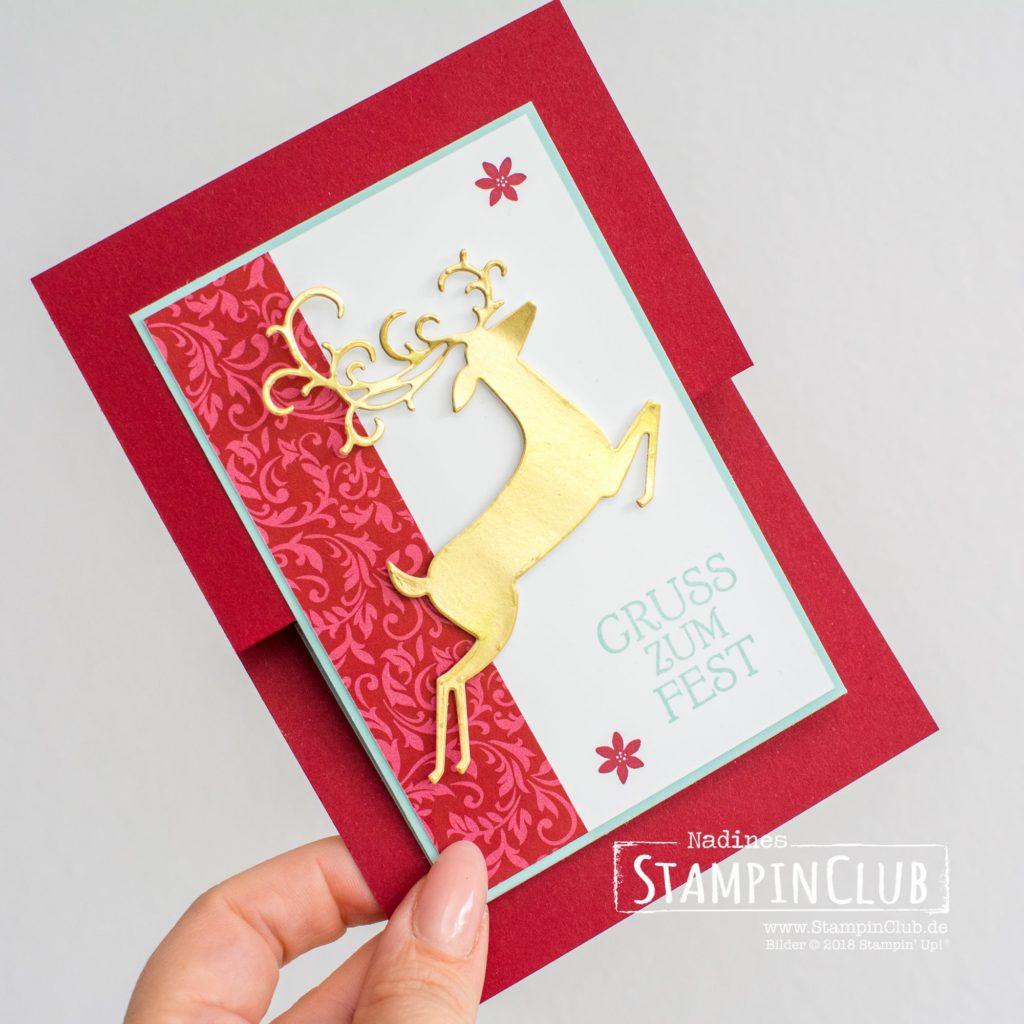 Elegante Weihnachten, Stampin' Up!, StampinClub, Elegante Weihnachten, Weihnachtshirsch, Dashing Deer