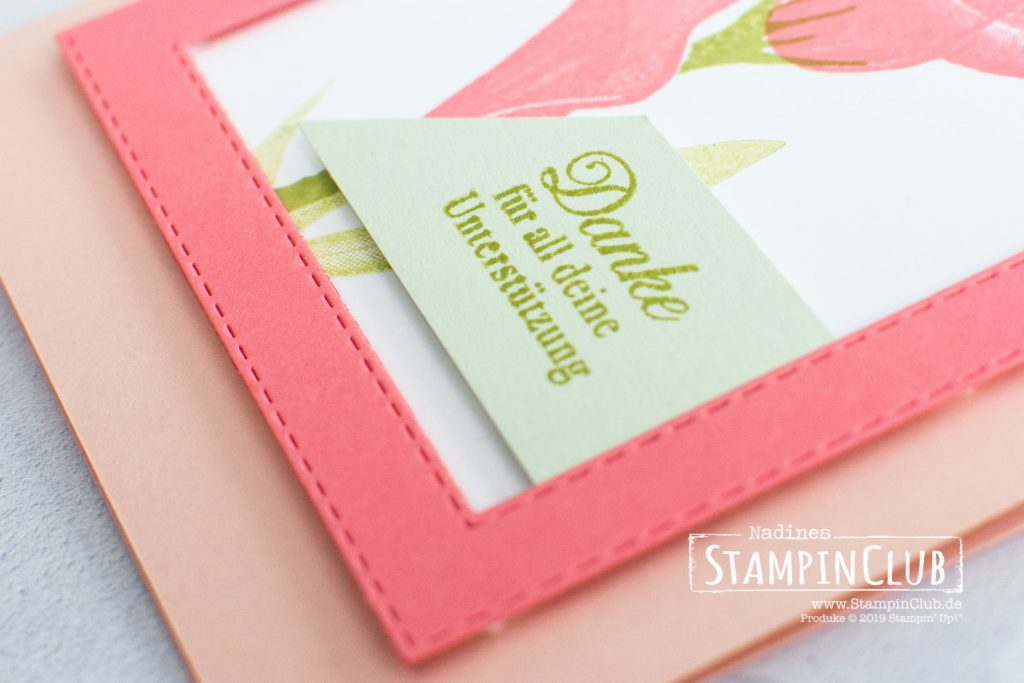 Stampin' Up!, StampinClub, Sale-A-Bration, Stille Schönheit, Lasting Lily, Framelits Formen Bestickte Rechtecke, Rectangle Stitched Framelits Dies