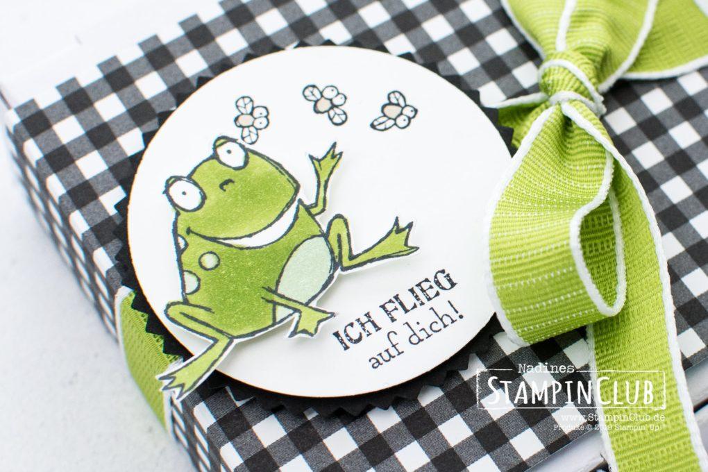 Stampin' Up!, StampinClub, Sale-A-Bration, Froschkönig, So Hoppy Together, Designerpapier Schmetterlingsvielfalt, Botanical Butterfly DSP
