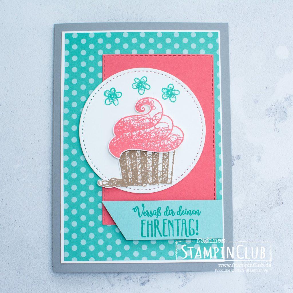 Süße Grüße für dich, Stampin' Up!, StampinClub, Sale-A-Bration, Süße Grüße für dich, Hello Cupcake, Framelits Formen Bestickte Rechtecke, Rectangle Stitched Framelits Dies