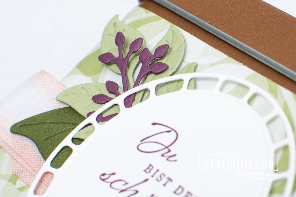 Stampin' Up!, StampinClub, Grund zum Lächeln, Wonderful Romance, Besonderes Designerpapier Blütensinfonie, Floral Romance Speciality DSP, Framelits Formen Blütenromantik, Wonderful Floral Framelits Dies