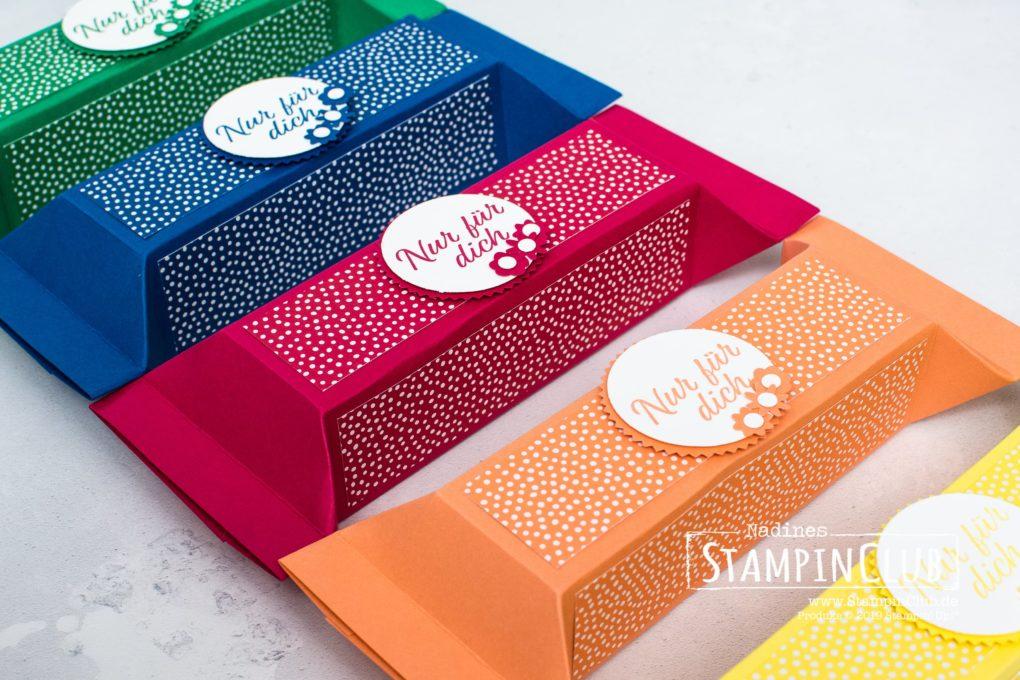 Stampin' Up!, StampinClub, Große Selbstschließende Box, Herzenssache, Meant to Be, Stanzenpaket Blümchen, Bitty Blooms Punch Pack