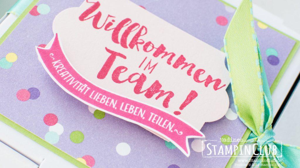 Stampin' Up!, StampinClub, Teamgeschenke, Begrüßungsgeschenk, Demonstrator, Stempel dich zum Erfolg, Stamping your Way to the Top