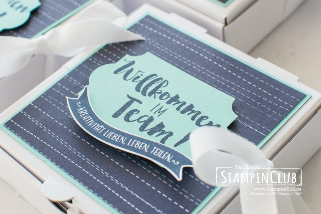 Stamping your Way to the Top, Stampin' Up!, StampinClub, Teamgeschenke, Begrüßungsgeschenk, Demonstrator, Stempel dich zum Erfolg, Stamping your Way to the Top