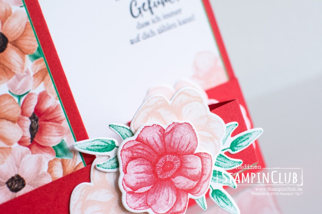 Painted Seasons, Stampin' Up!, StampinClub, Z-Fold, Painted Seasons, Framelits Formen Vier Jahreszeiten, Four Seasons Framelits Dies, Designerpapier Porträt der Jahreszeiten, Painted Seasons DSP, Wie ein Diamant, Strong & Beautiful