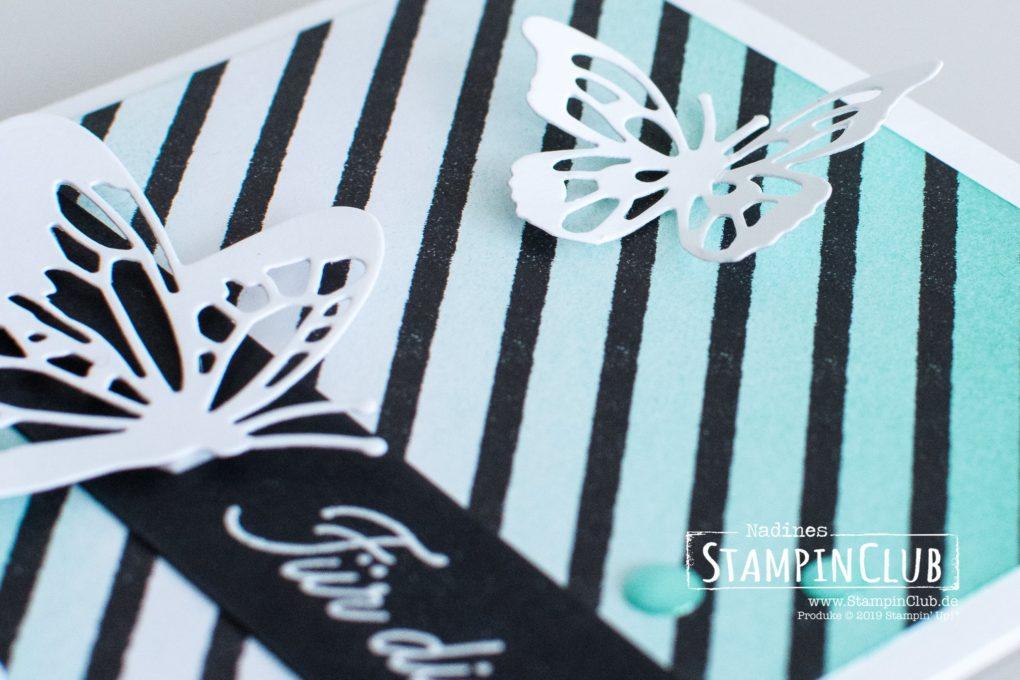 Stampin' Up!, StampinClub, DP Schmetterlingsvielfalt, Voller Schönheit, Thinlits Formen Schöne Schmetterlinge