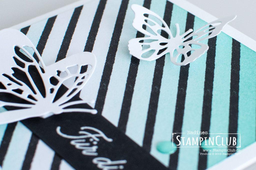 Schöne Schmetterlinge, Stampin' Up!, StampinClub, DP Schmetterlingsvielfalt, Voller Schönheit, Thinlits Formen Schöne Schmetterlinge