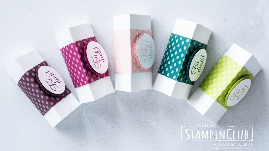 Stampin' Up!, StampinClub, Dreieck-Box, In Color, Mit Liebe zum Detail