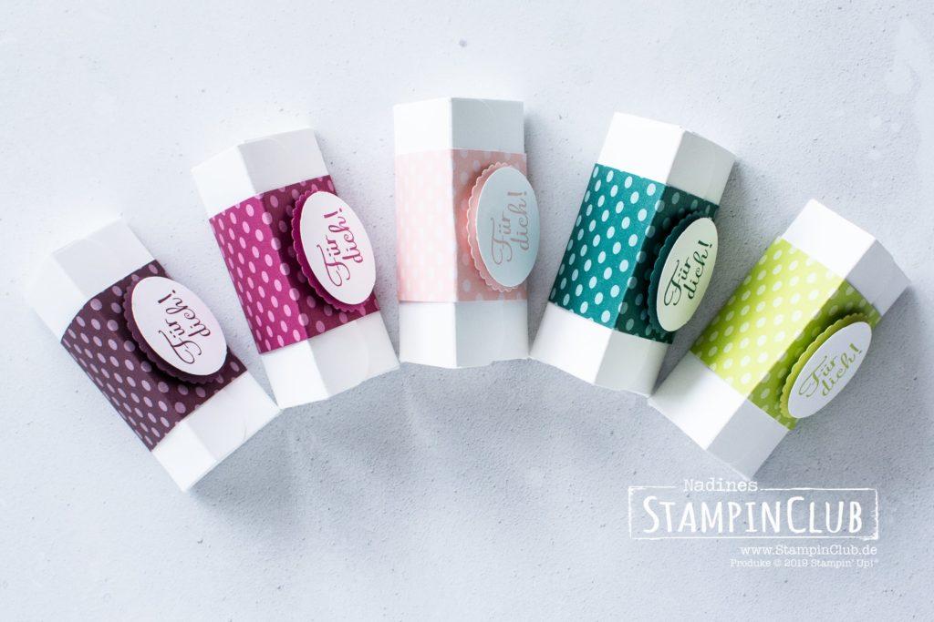 Dreiecks-Box, Stampin' Up!, StampinClub, Dreieck-Box, In Color, Mit Liebe zum Detail