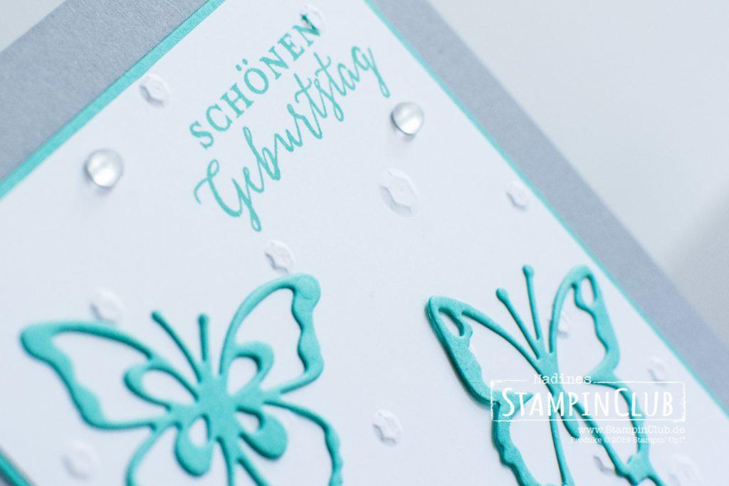 Stampin' Up!, StampinClub, Thinlits Formen Schöne Schmetterlinge, Liebevolle Details, TITPF Pailletten