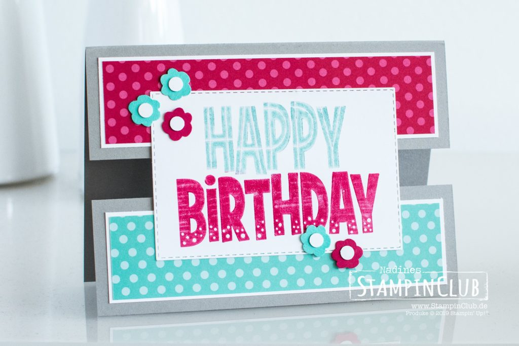 Stampin' Up!, StampinClub, One For All, Split Front Card, Peek Through the Middle