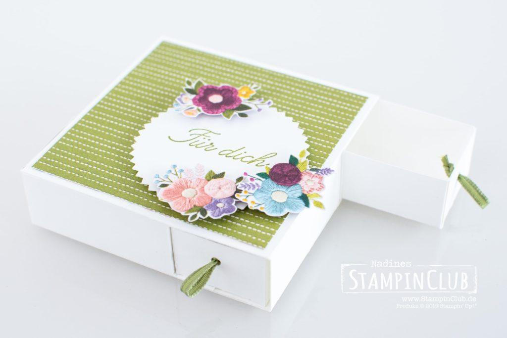 Vierer-Schubladenbox, Stampin' Up!, StampinClub, Teamtreffen, Stempel-Brunch, Silke Schlarb, Sanja Reiß
