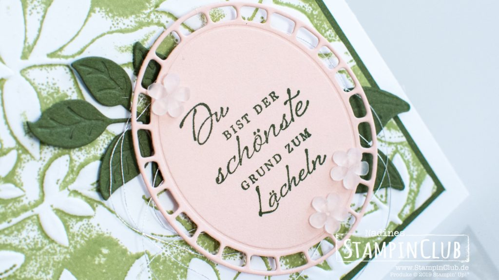 Stampin' Up!, StampinClub, Grund zum Lächeln, Stamping with Embossing Folder
